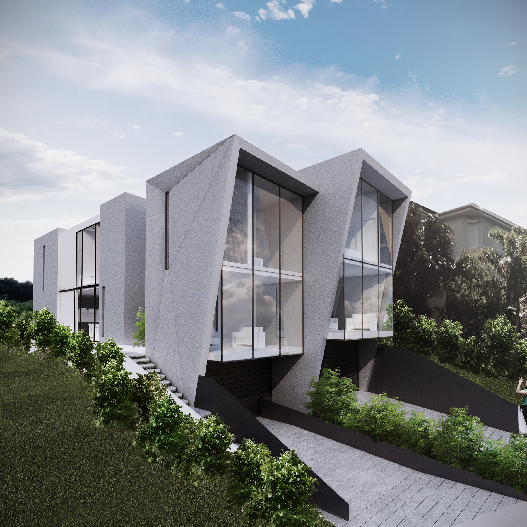 Modern Contemporaryhome Exterior Design: Those Who Live In Glass Houses Should Not Throw Stones