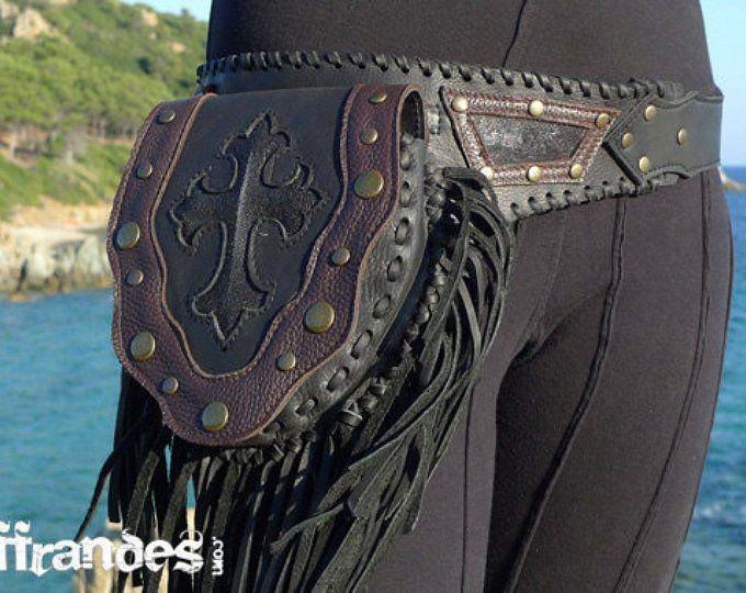 32091e00b Leather Utility Belt Handmade Designer Pocket Belt High