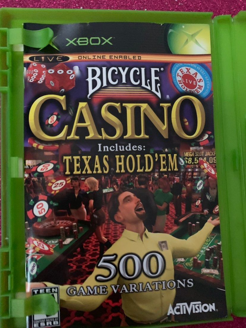 Xbox Live Activision Bicycle Casino Game Includes Texas Hold Em With 500 Game Variations In Great Condition Texas Holdem Casino Activision