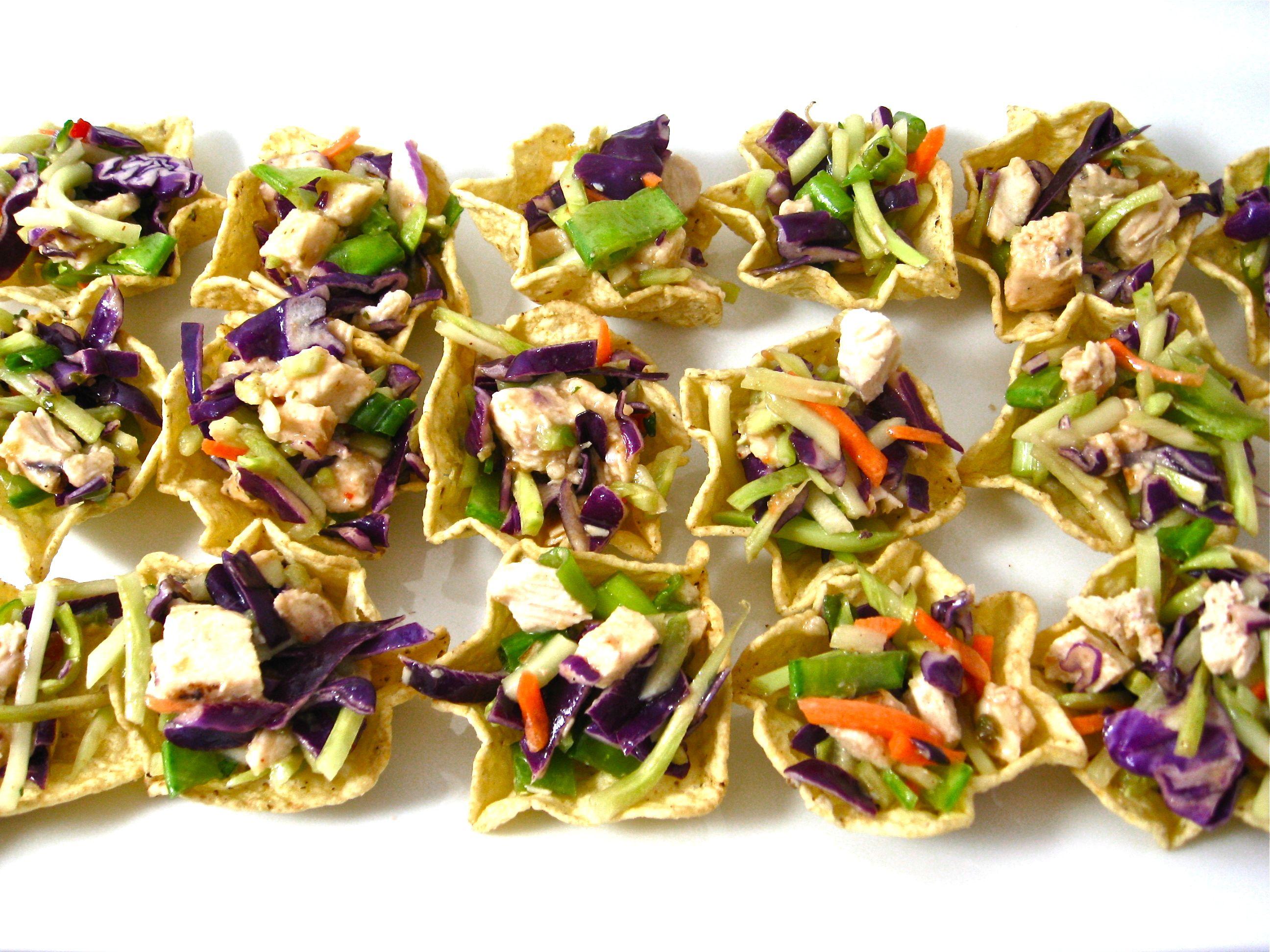 Skinny Chinese Chicken Salad Bites