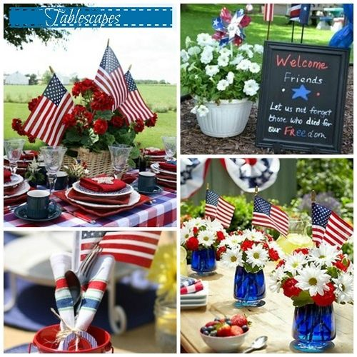 Memorial day/ Fourth of July Table Setting ideas | 4th of July ...