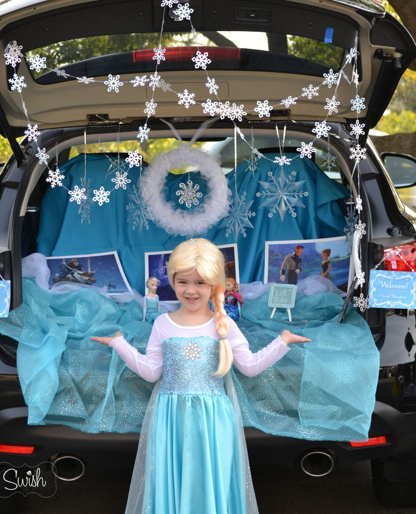 Frozen Trunk or Treat Ideas , Elsa Trick or Treat