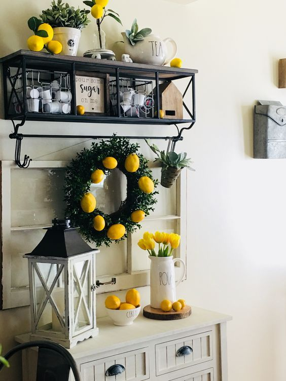 25 Farmhouse Inspired Ways To Decorate with Lemons - The Organized Dream