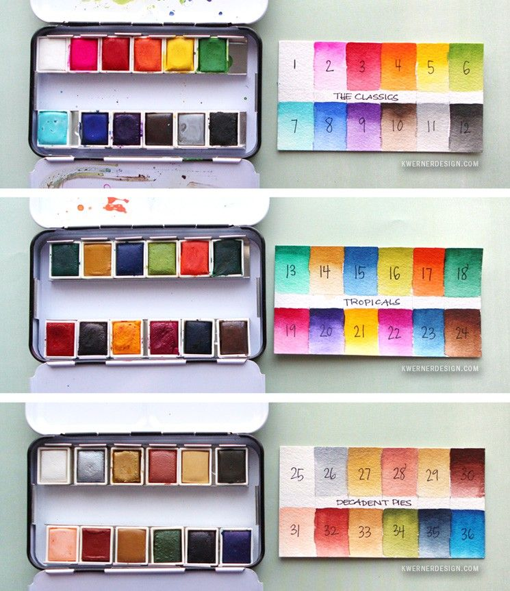 New Watercolor Pan Sets from Prima & Coloring Book Review | Swatch ...