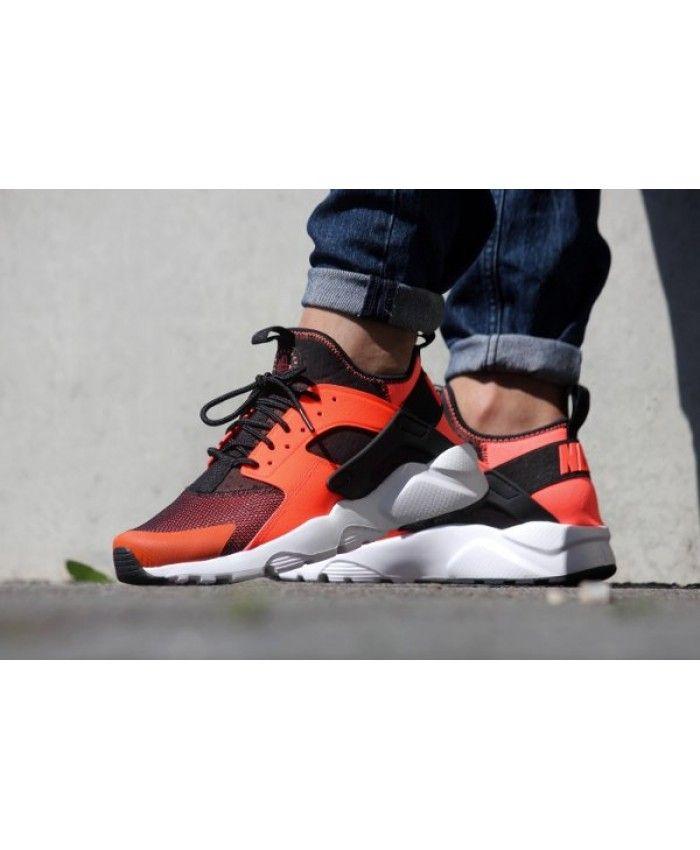 da42ddaef690 Nike Air Huarache Run Ultra Black Total Crimson Trainer Classic style