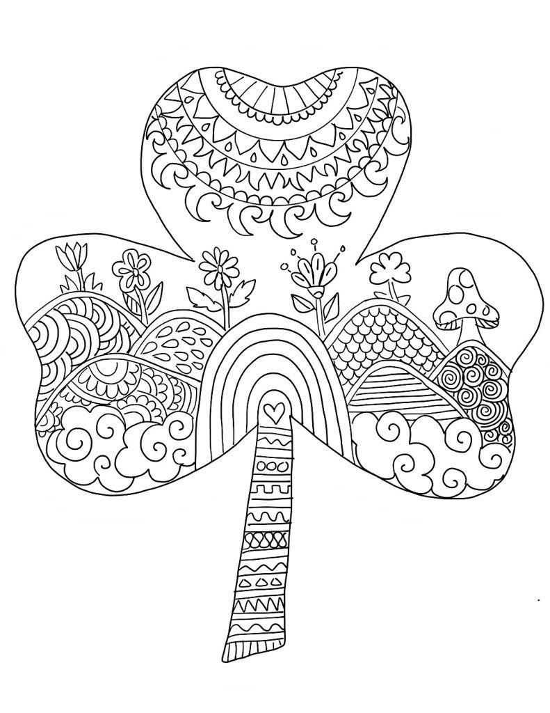 Free Saint Patricks Day Coloring Pages Printable Ohlade St Patricks Coloring Sheets Shamrock Coloring Pages St Patricks Day Coloring Pages Free