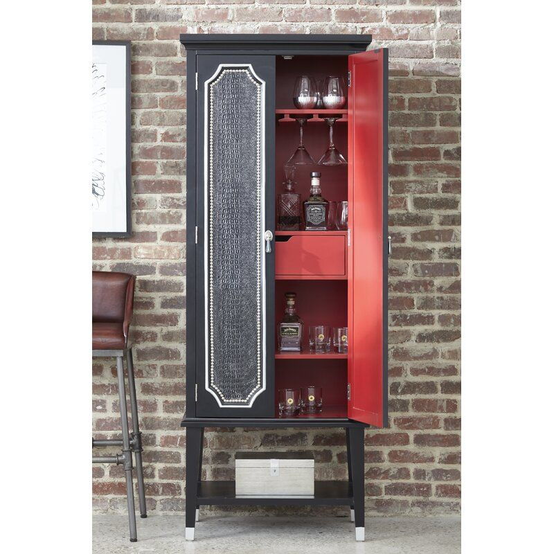 Glenda Bar Cabinet In 2020 Bars For Home Cabinet Tall Cabinet Storage