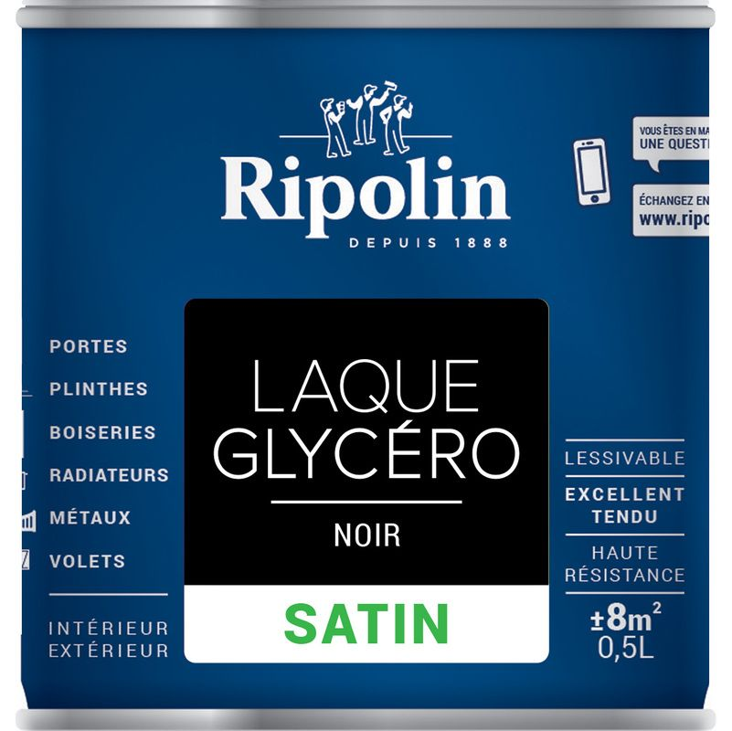 Laque Glycéro Déco Satin 0l5 Ppg Retail France Ripolin