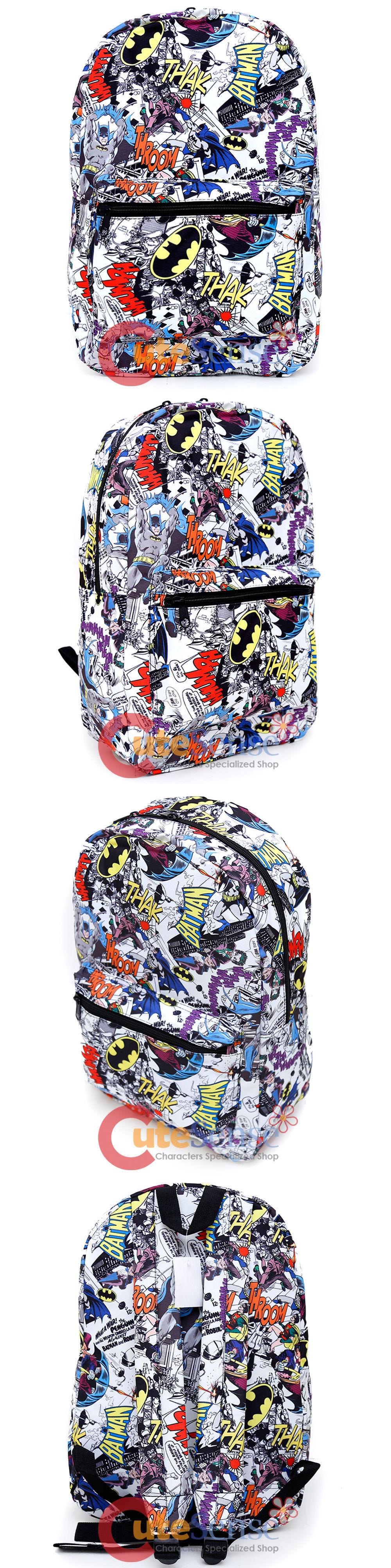 batman dc ics large school backpack 17 all over prints