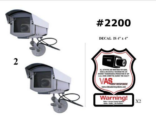 2 VAS #2200 Outdoor Dummy Camera Blinking LED W (2) #100 Decal by VAS First Response. $59.95