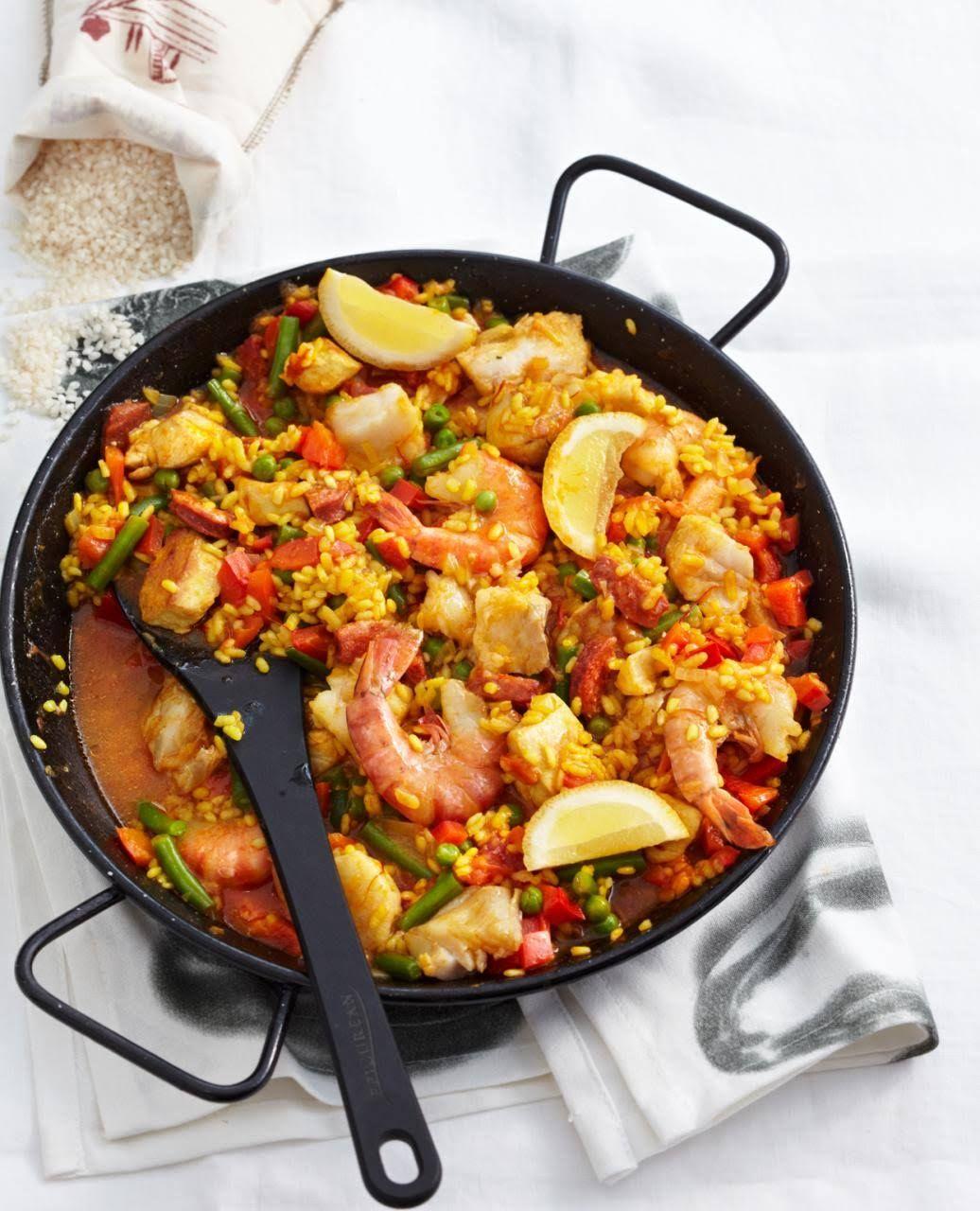Paella | Rezept | Spanische paella, Spanisch und Bohnen