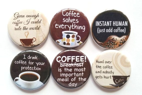 food magnets Coffee refrigerator magnets Coffee theme fridge magnets Funny fridge magnets Love is in the air and it smells like coffee