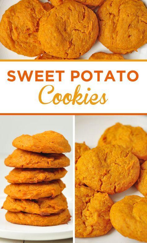 Sweet Potato Cookies #sweetpotatorecipes