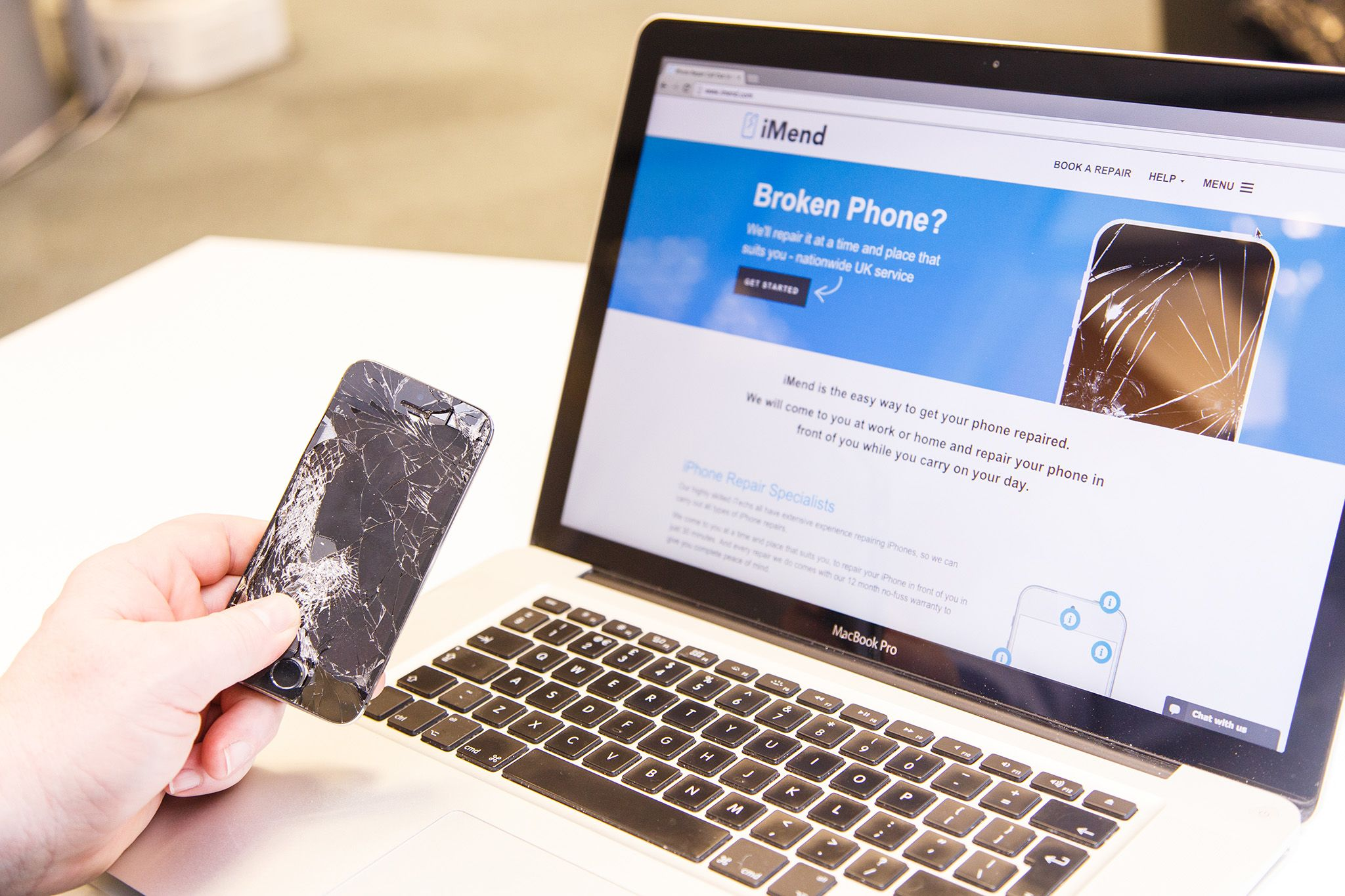 UK Smartphone repair company iMend.com offers nationwide, same-day, on-site service
