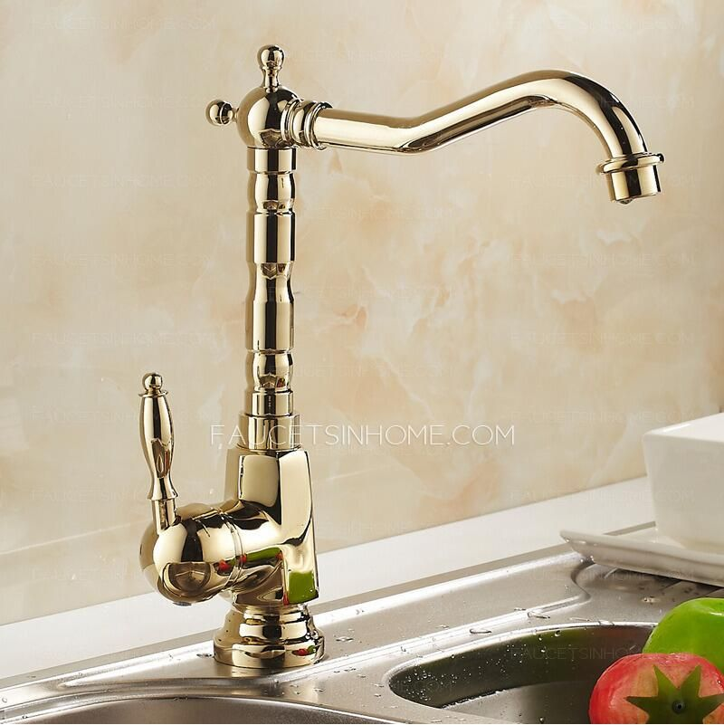 Superieur Antique Kitchen Faucet Used Refined Brass With One Casting Technology And  Has Polished Brass Finish Looks Full Of Classical European Style, Suitable  Pore ...