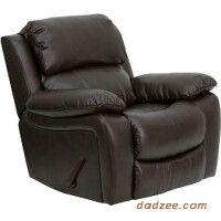 dark brown leather recliner chair. dark brown leather rocker recliner chair n