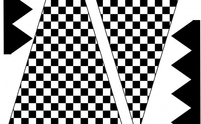image about Printable Flag Banner identify Free of charge Checkered Flag Printables Even further Parkers Birthday