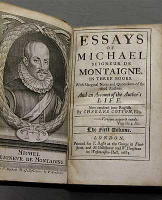 Essays montaigne sparknotes