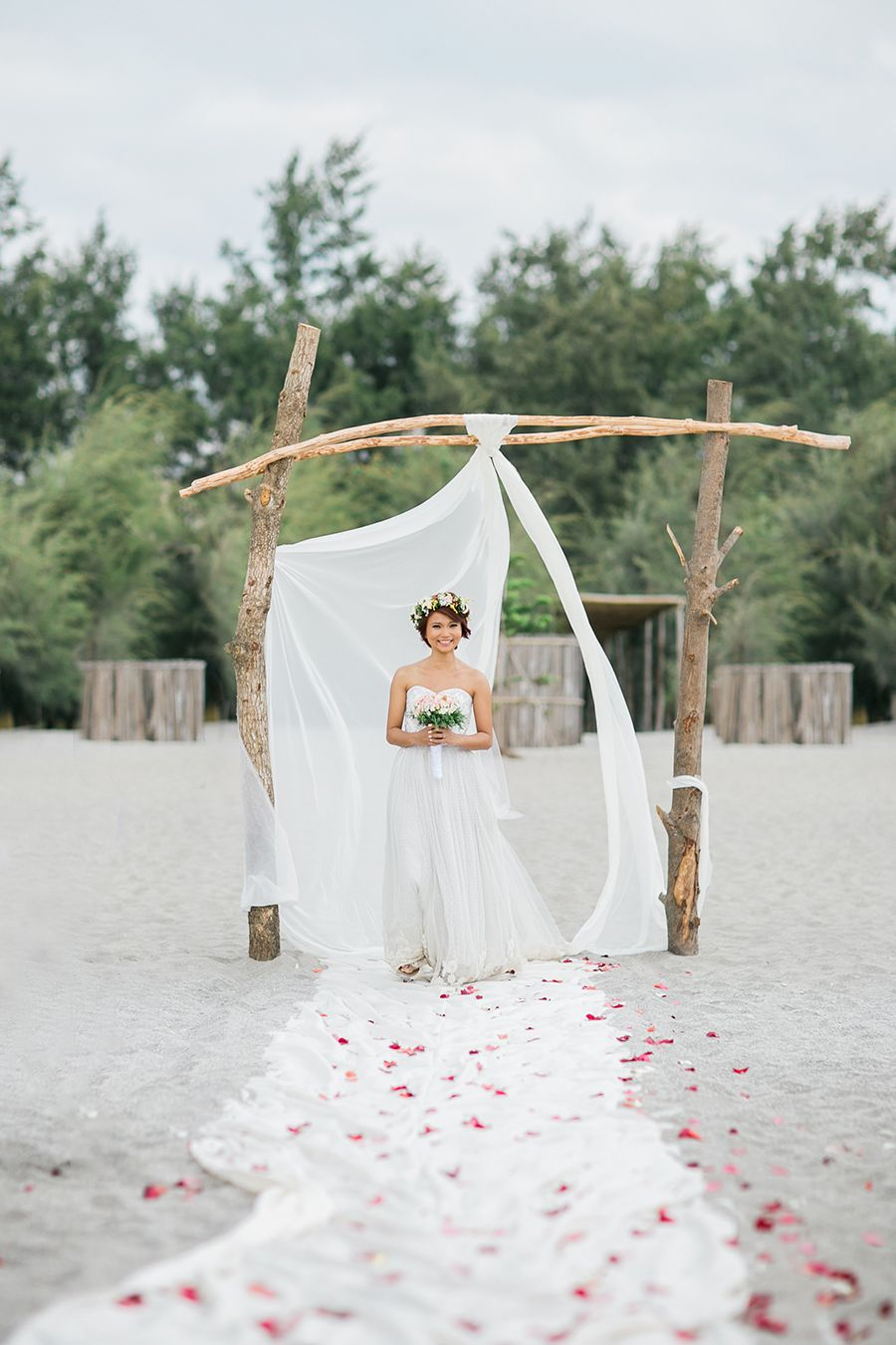 Bohemian Themed Wedding Beach