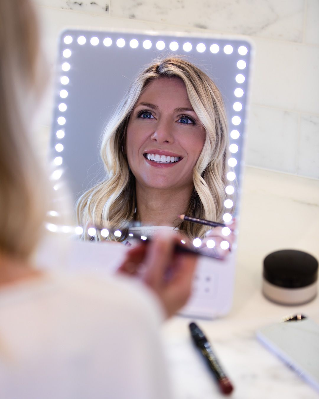 Glamcor Riki Skinny Makeup Mirror The Glamorous Gal Everything Fashion Riki Skinny Mirror Makeup Mirror Makeup