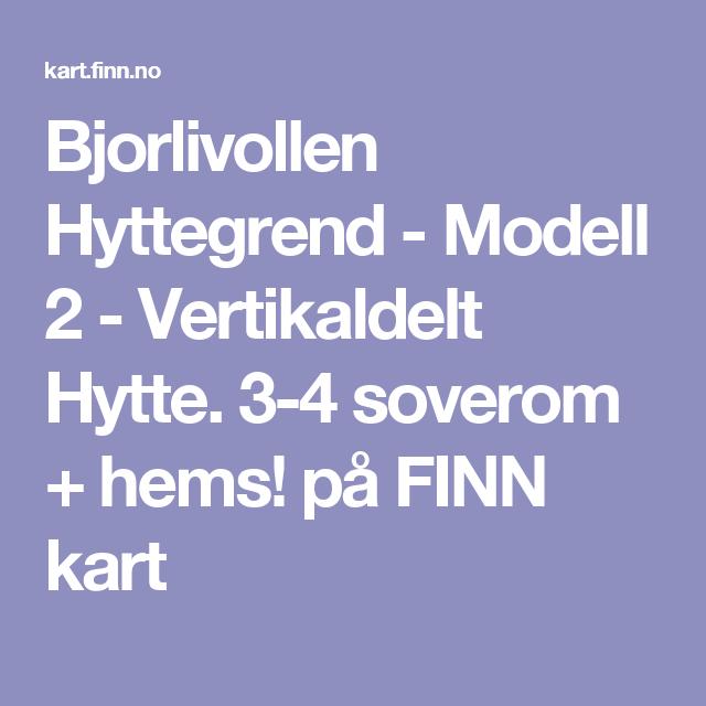 finn kart norway Bjorlivollen Hyttegrend   Modell 2   Vertikaldelt Hytte. 3 4  finn kart norway