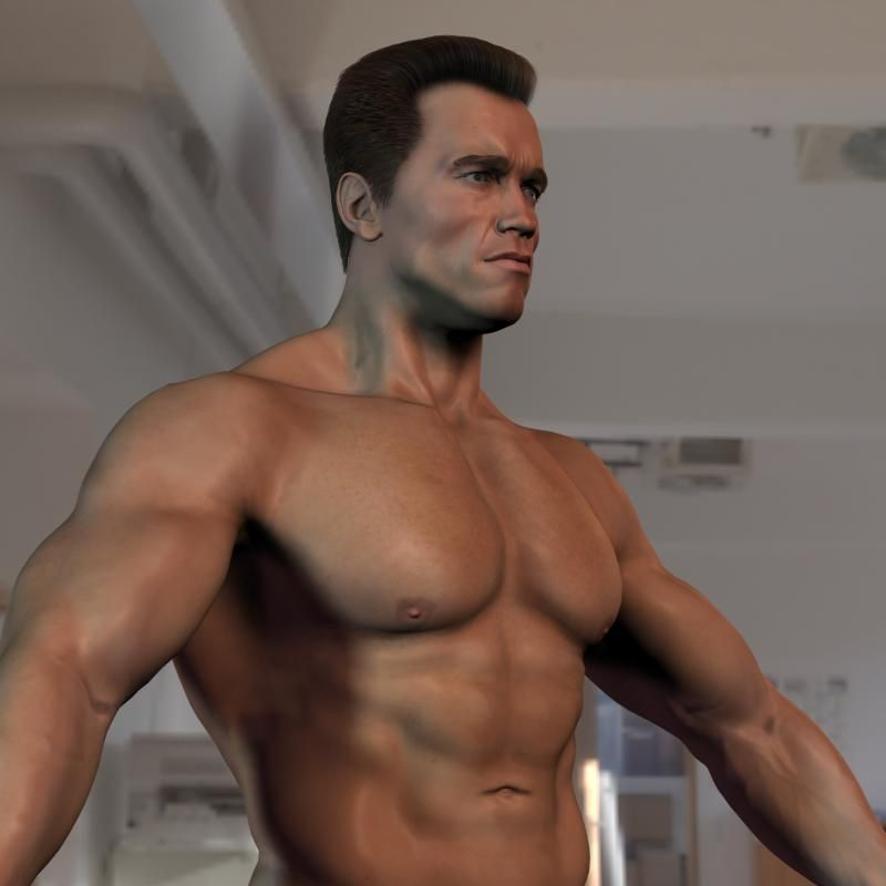 3D model Arnold Schwarzenegger body 3 by steplont Arnold - new arnold blueprint ebook