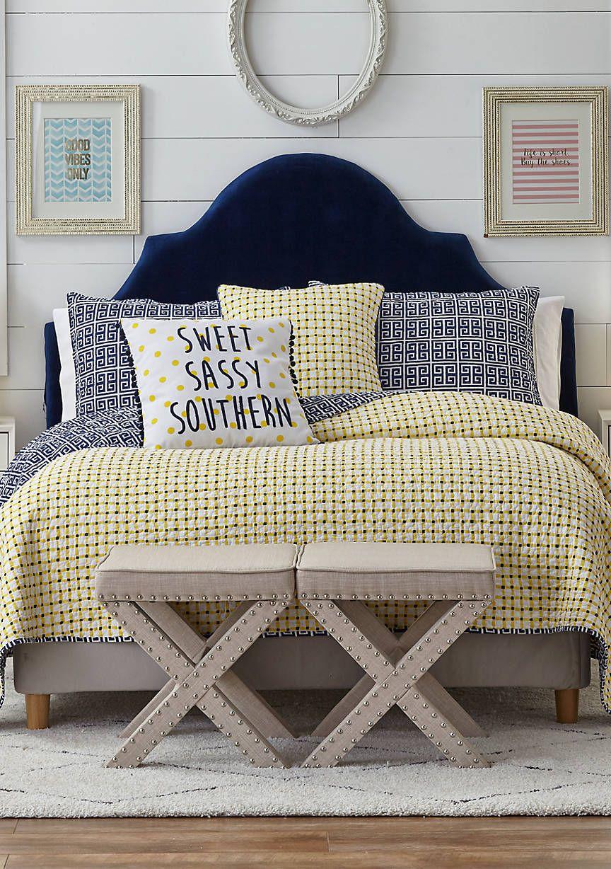 Crown & Ivy™ Willow Reversible Quilt | Master Bedroom ...
