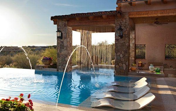 garten mit pool komfortabler außenbereich   projektbezug, Garten Ideen