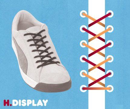Quince modos de poner los cordones en tus zapatillas