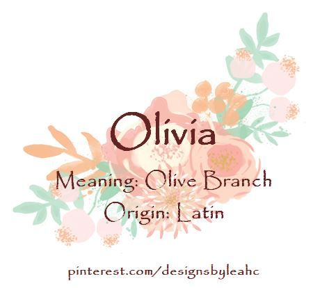 Olivia name meaning biblical