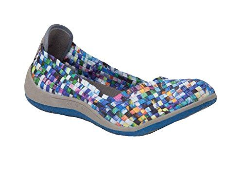 Zee Alexis Womens Sugar Woven Flats by CC RESORTS Turquoise Multi 37 M EU  665 BM US * Learn more by visiting the image link.