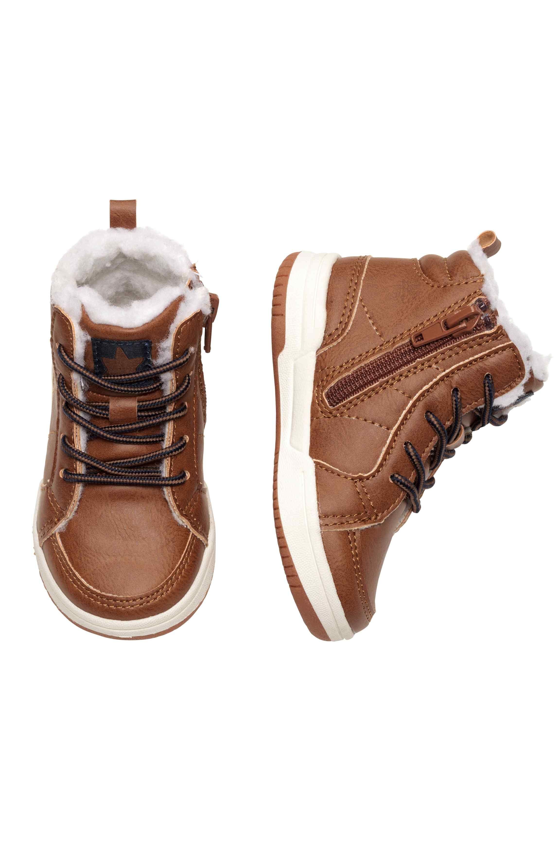 Buty Sportowe Do Kostki Jasnobrazowy Dziecko H M Pl Kids Fashion Boy Leather High Tops Kids Fashion
