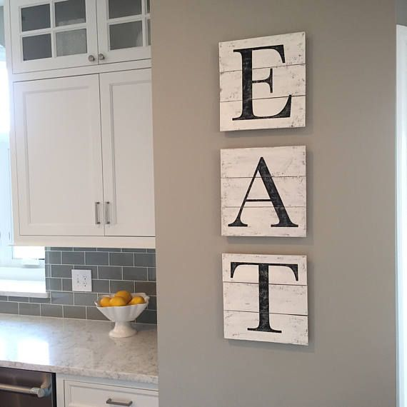 Eat Letters Etsy Home Decor Home Decor Signs Kitchen Wall Decor
