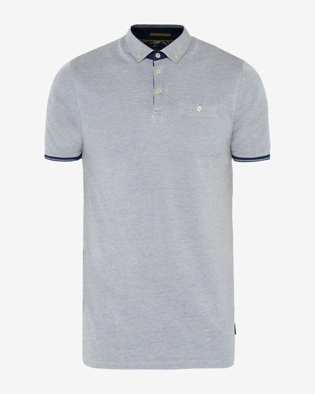 e3e14b5716 Woven polo shirt - Navy