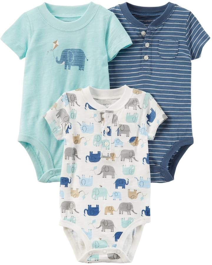 58866614d10 Baby Boy Carter s 3-pk. Short Sleeve Bodysuits