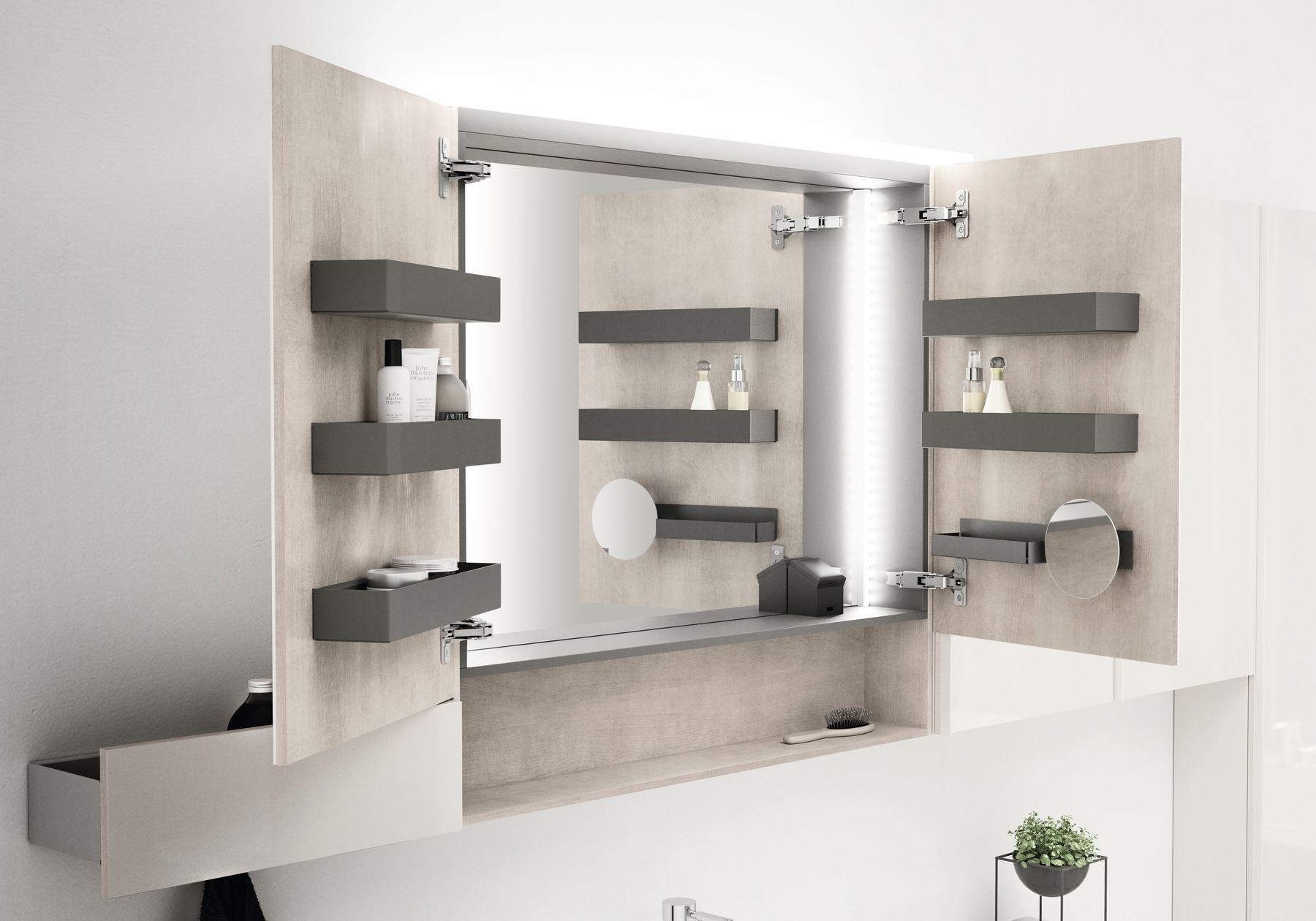 Spiegelkast voor de badkamer. de nieuwe badkamer serie acanto van