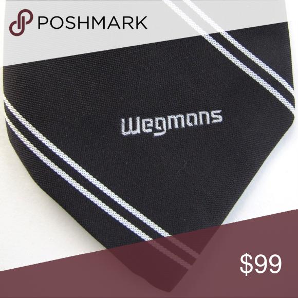 Rare Collectible Vintage Wegmans Brown Retro Tie Very Rare Old