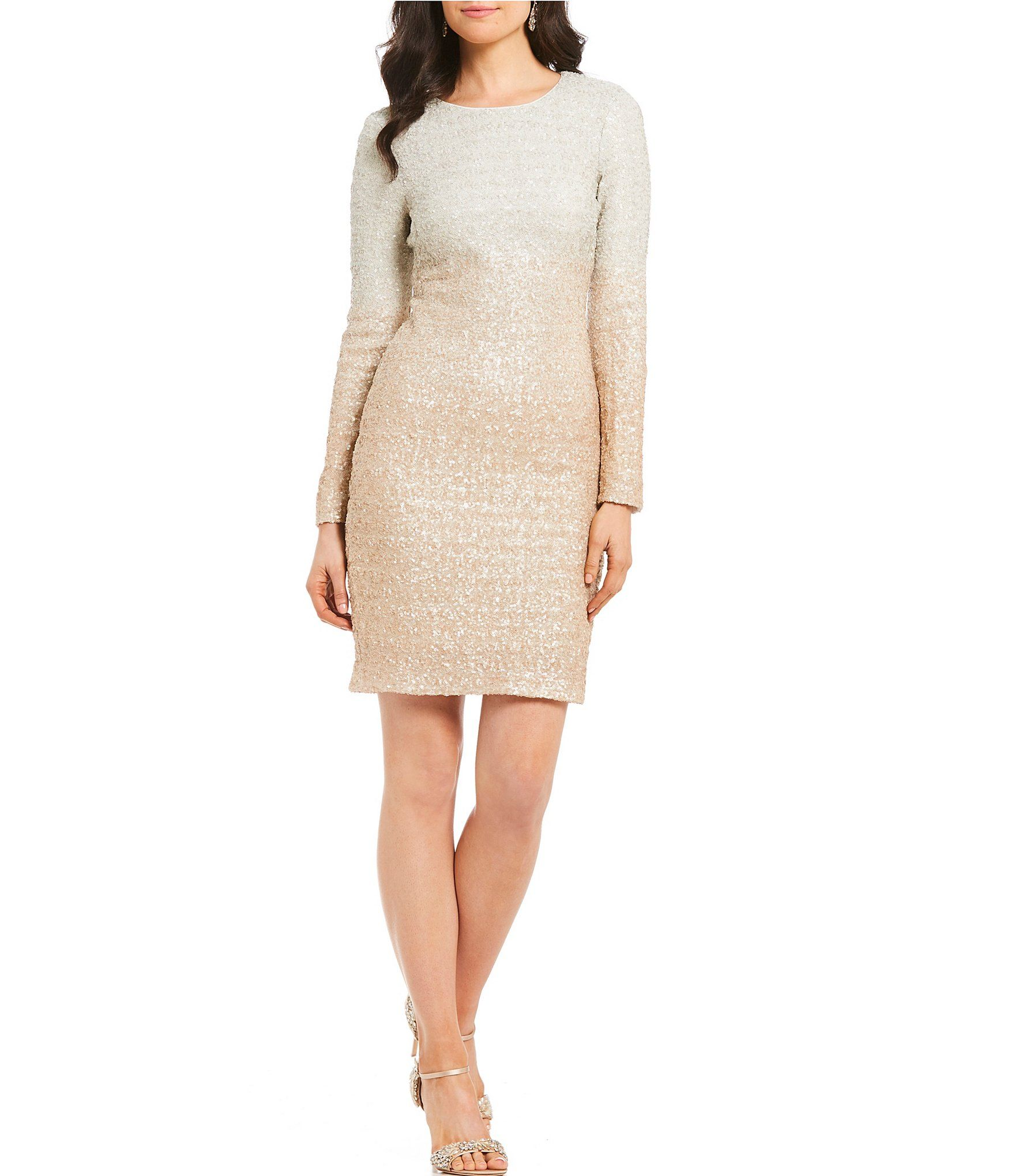 c498d76ae50 Belle Badgley Mischka Ombre Sequin Alexis Dress  Dillards