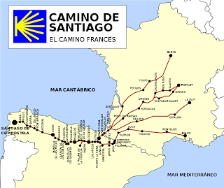 Camino Walk Spain Map.I Don T Know If I Ll Ever Be Able To Do This But It Would Be So