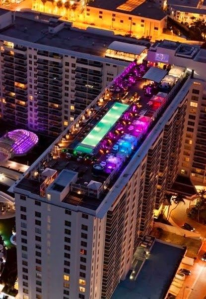 Rooftop Pool And Lounge Perry South Beach Hotel Miami Florida