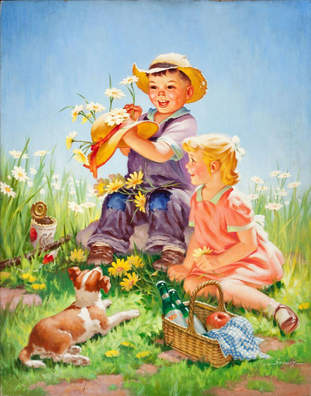 Подруги, картинки детских иллюстраторов