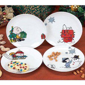 Peanuts Gang Ceramic Christmas Plates Peanuts Christmas Christmas Plates Christmas Dinnerware