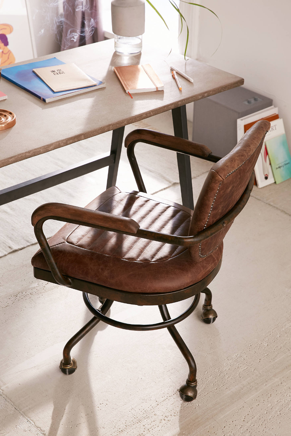 Foster Leather Desk Chair Urban Outfitters in 2020