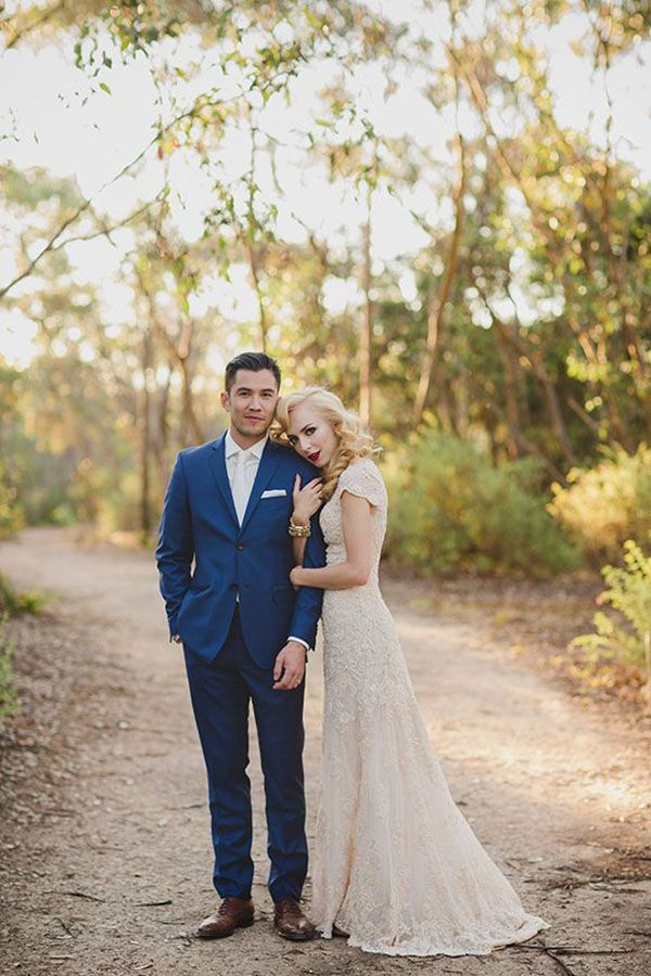 fb238de9f4d The navy stands out in this wedding! Similar to our Slate Blue Allure Suit   www.friartux.com styles