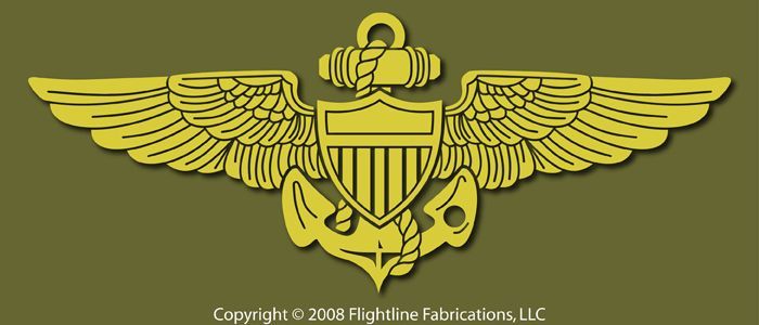 Naval Aviator Wings USN Pilot Vinyl Decal Sticker VLNAW