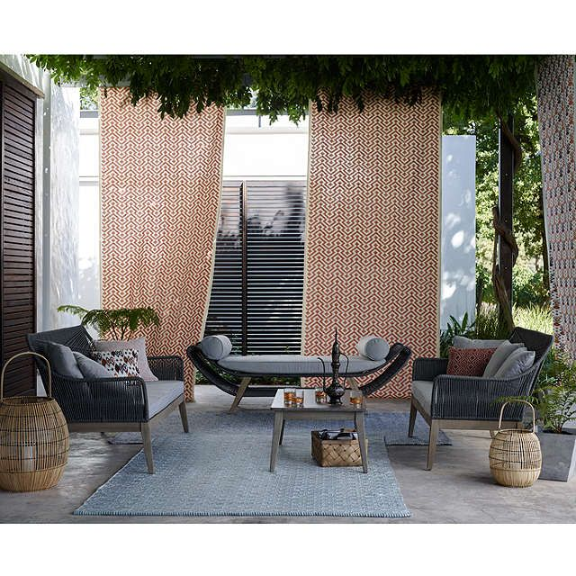 Weaver Green Provence Collection Washable Outdoor Rug Teal L240 X W170cm Online At Johnlewis