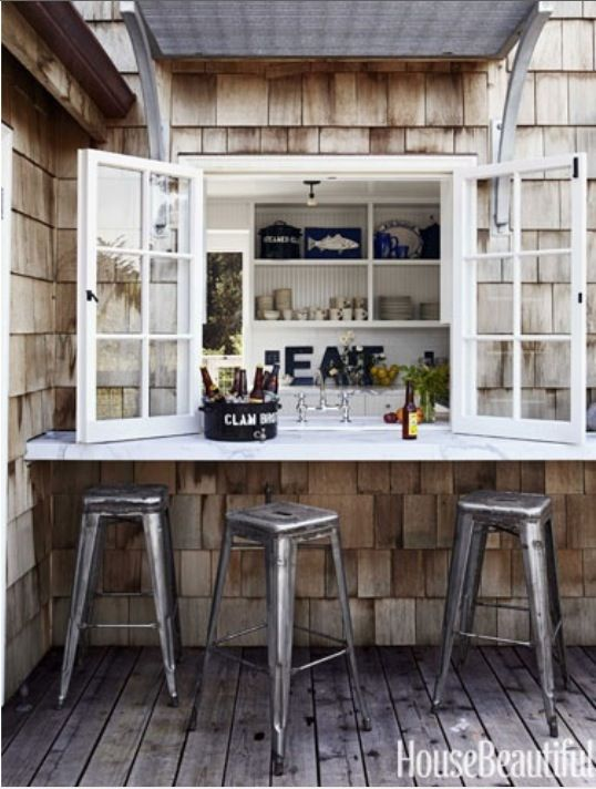 outdoor bar setup Studio and Small Apartment Ideas Pinterest