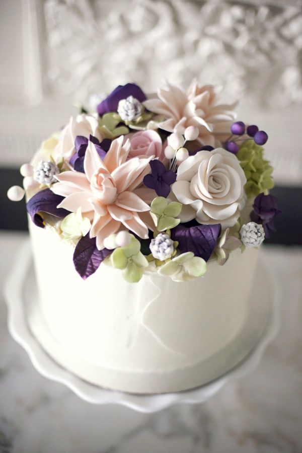 Sugar Flower Cake Topper from liz z Kuehl s wedding Cool