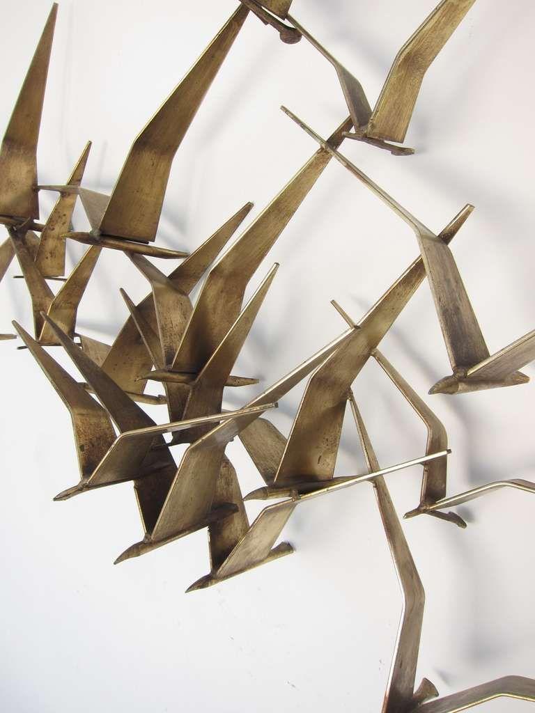 "Wall Sculptures Curtis Jere ""birds In Flight"" Wall Sculpture  Wall Sculptures"