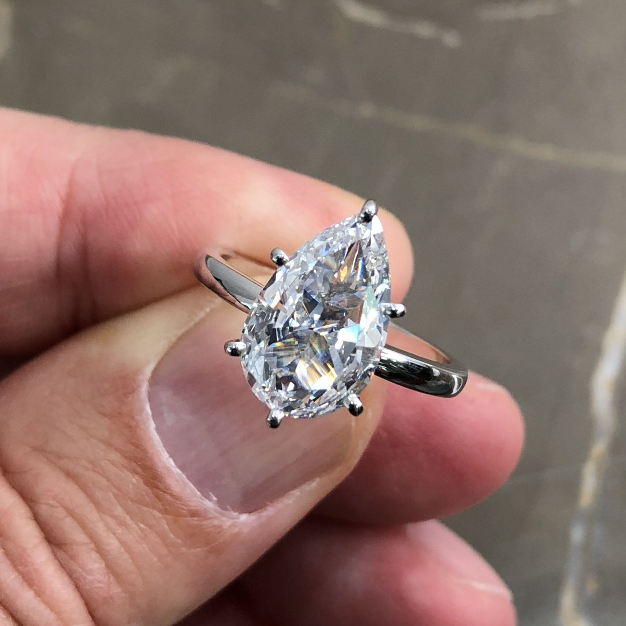 4.00 CT Pear Halo Simulated Yellow Sapphire Engagement Ring Pear Gemstone Wedding For Women 925 Sterling Silver Wedding Halo Ring